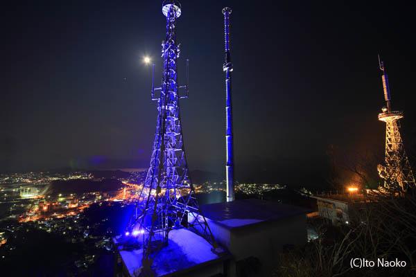 測量山の夜景スポット情報