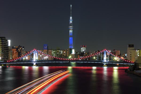 隅田川大橋・テラスの夜景スポット情報