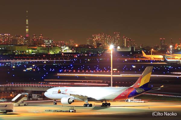 羽田空港 国際線ターミナル 展望デッキの夜景スポット情報