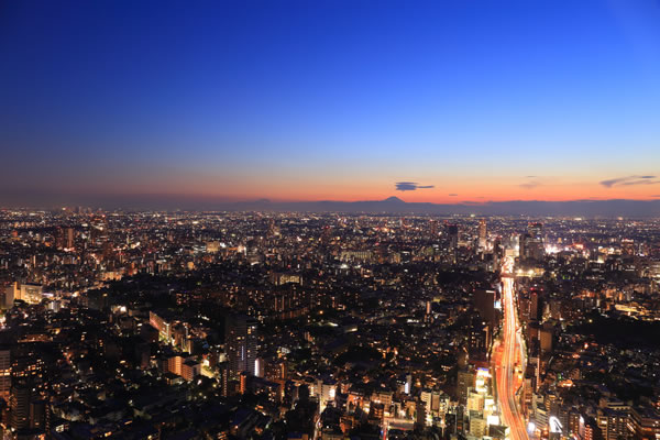 六本木ヒルズ 展望台 富士山を望む