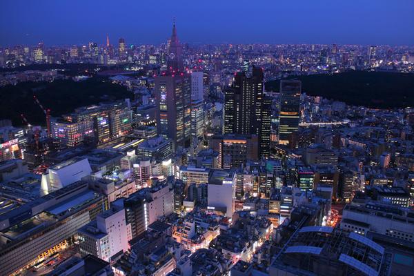 新宿センタービル 展望ロビーの夜景スポット情報