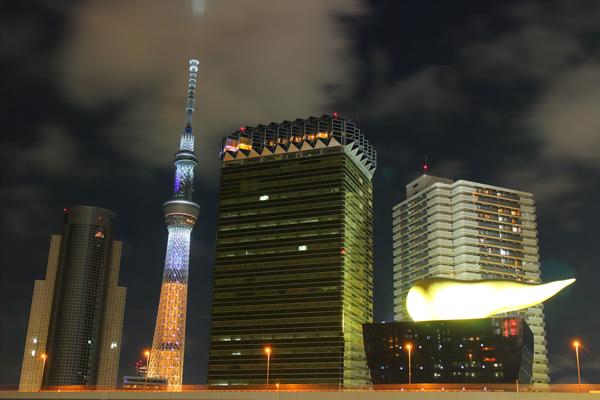 吾妻橋の夜景スポット情報