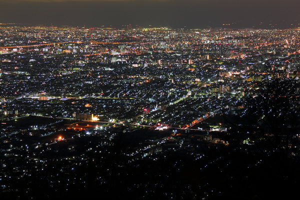 信貴生駒スカイラインの夜景スポット情報