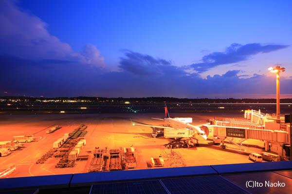 成田国際空港 第一ターミナル展望デッキの夜景スポット情報
