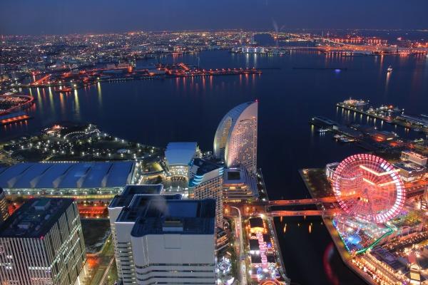 横浜ランドマークタワー スカイガーデンの夜景スポット情報