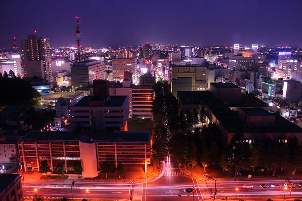 栃木県庁展望ロビーの夜景スポット情報