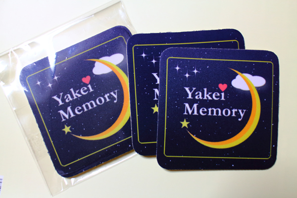『Yakei Memory』ロゴ コースターが出来ました☆