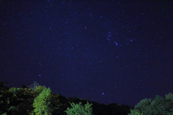 見上げると満天の星☆ オリオン座もハッキリ見えます!