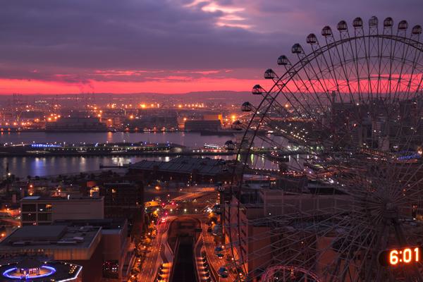 横浜ベイホテル東急からの日の出