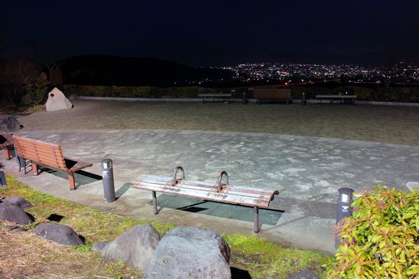 富士川SA 展望スペースの雰囲気