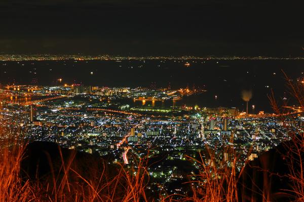 六甲山 鉢巻展望台の夜景スポット情報