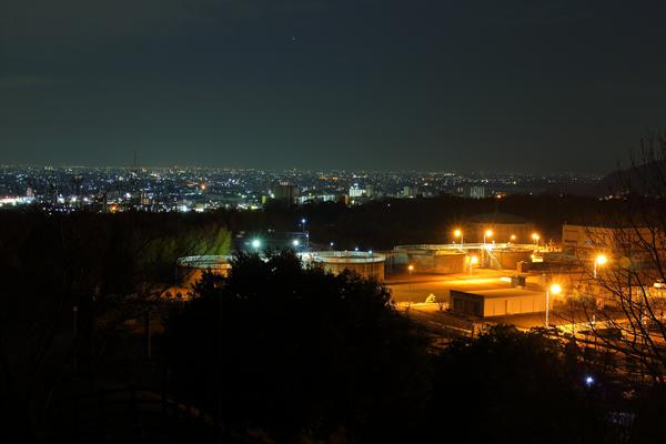 犬山ひばりヶ丘公園の夜景スポット情報