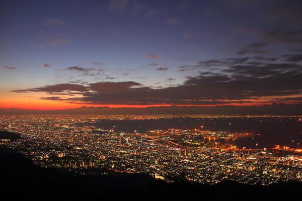 日本三大夜景☆摩耶山 掬星台の夜景スポット情報