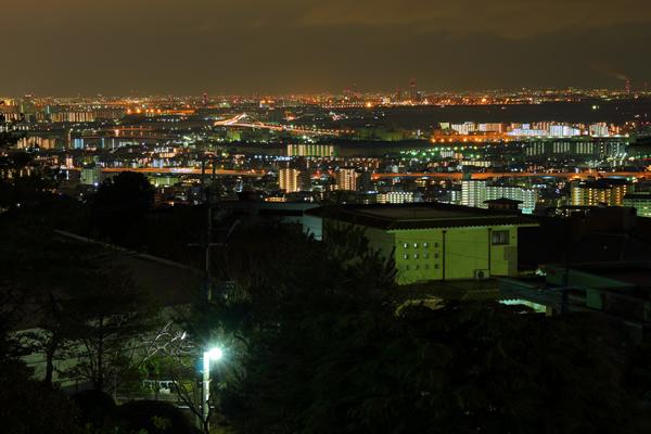 西山公園の夜景スポット情報