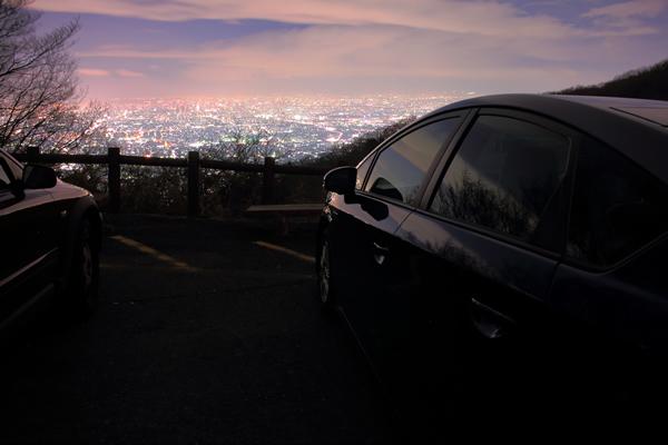 信貴生駒スカイライン 夕日駐車場