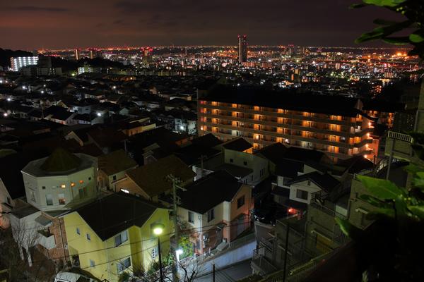土山町中公園の夜景スポット情報