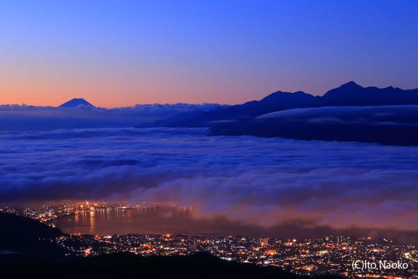 高ボッチ高原 山頂の夜景スポット情報
