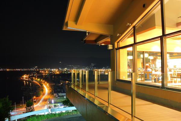 諏訪湖SAの夜景スポット情報