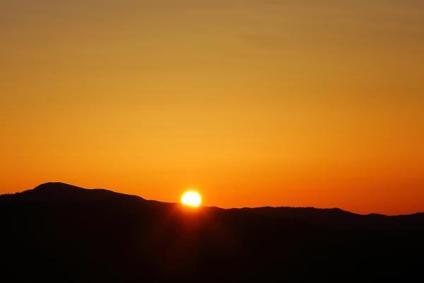 高ボッチ高原 山頂からの日の出