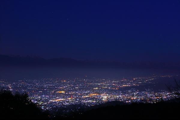 アルプス連峰パノラマ展望台の夜景スポット情報