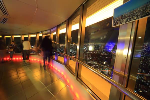 東京タワー特別展望台の雰囲気