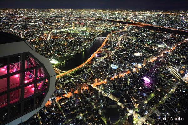 東京スカイツリー天望回廊の夜景スポット情報