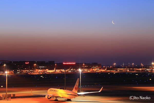 羽田空港国際ターミナル 月