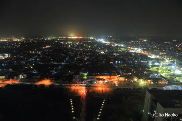 茨城県庁 展望ロビーの夜景スポット情報