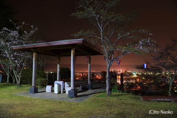 西山公園 展望デッキの雰囲気