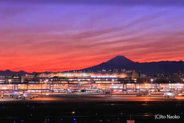 羽田空港 国内線 第1旅客ターミナル 展望デッキの夜景スポット情報