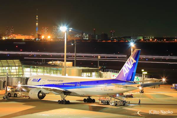 羽田空港 国内線 第2旅客ターミナル 展望デッキの夜景スポット情報