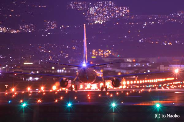 伊丹空港・千里川土手の夜景スポット情報