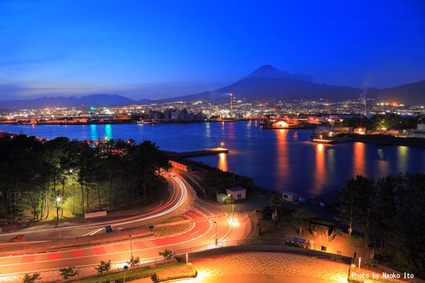 ふじのくに田子の浦みなと公園の夜景スポット情報