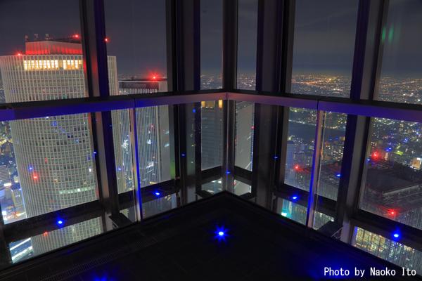 ミッドランドスクエア スカイプロムナードの夜景スポット情報